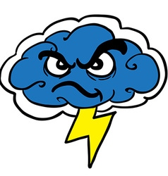 Angry storm cloud vector