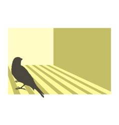 canary bird vector image vector image