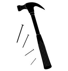 Claw hammer silhouette vector image