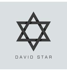 david star symbol vector image vector image
