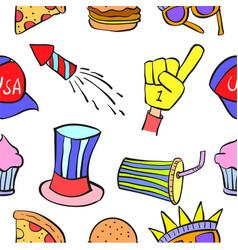 Design memorial day colorful doodles vector
