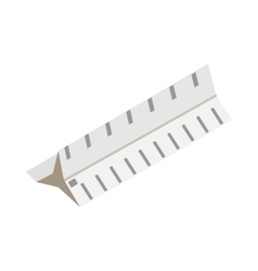 Drawing ruler icon isometric 3d style vector image vector image