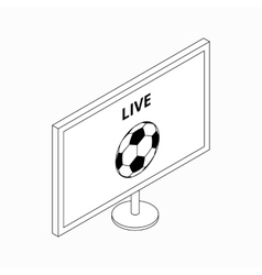 Football match on TV icon isometric 3d style vector image