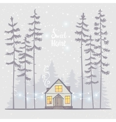 forest house vector image vector image