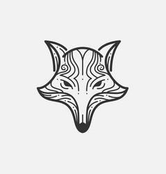 Fox line mono vector