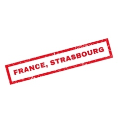 France strasbourg rubber stamp vector