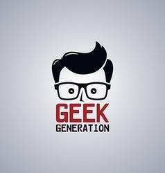 geek nerd guy vector image vector image