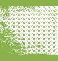 greenery doodle stroke and dot seamless pattern vector image