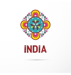 India - mandala oriental pattern indian icon vector