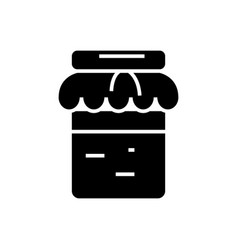 jam icon black sign on vector image vector image