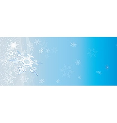 light blue banner with snowflakes vector image vector image