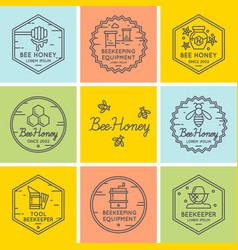 logo for sale of honey vector image