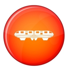 Monorail train icon flat style vector