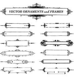 Ornaments and frames vector