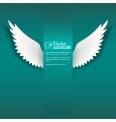Paper wings vector image