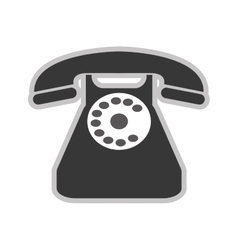 Rotary dial telephone vector