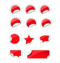 set of trendy sticker vector image vector image