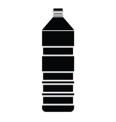 silhouette of bottle vector image