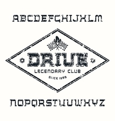 Square serif font drive texture vector