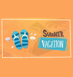 Summer vacation sea travel retro banner seaside vector
