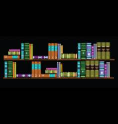 two bookshelves vector image vector image