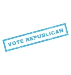 Vote republican rubber stamp vector