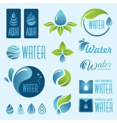 Water set1 vector image vector image