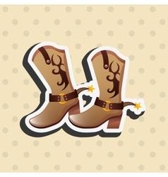 wild west icon design vector image