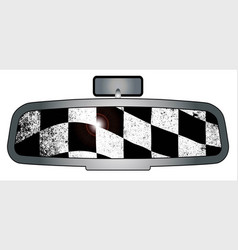 winners rear view mirror vector image