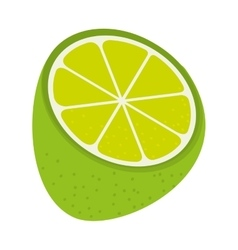 Delicious and fresh lemon fruit vector