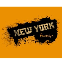T shirt typography graphics new york orange vector