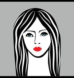 Beauty girl face sketch woman face portrai vector