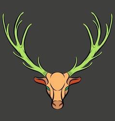 Colorful Dead Deer Trophy vector image