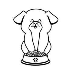 cute hamster mascot icon vector image