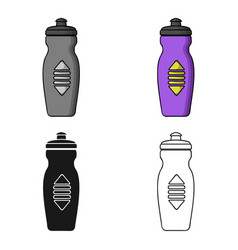 water bottle icon in cartoon style isolated on vector image