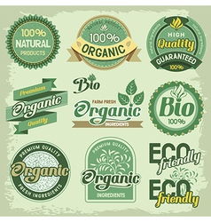 Eco label vector