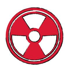 radiation caution hazard nuclear symbol vector image