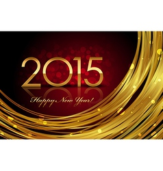 2015 red and gold glowing background vector image