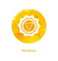 Manipura chakra vector image