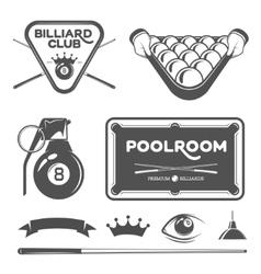 poolroom set vector image