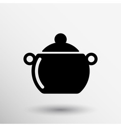 Logo pot casserole cooking image sign vector