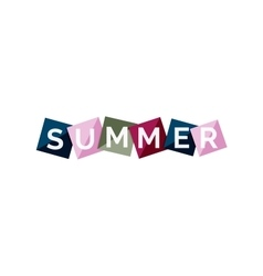 Word concept on color geometric shapes - summer vector
