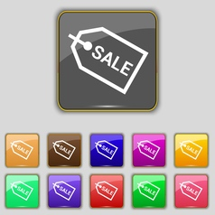 Sale icon sign set with eleven colored buttons for vector