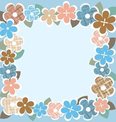 Vintage flower border vector