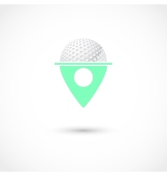 Golf club tag vector