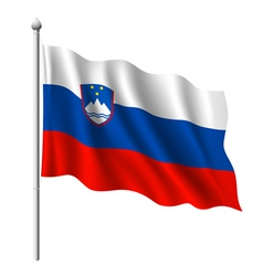 Flag of slovenia vector