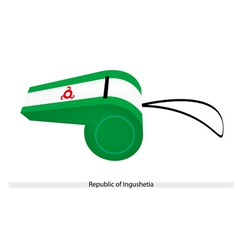 A whistle of the republic of ingushetia vector