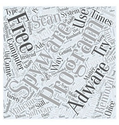 Adware free removal scan spyware word cloud vector