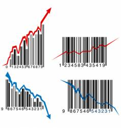 barcode graphs vector image vector image