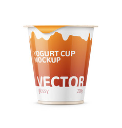 Big yogurt pot template vector